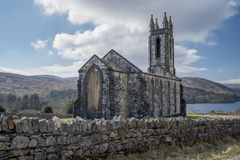 Old church of Dunlewy in Co Donegal, in Ireland Royalty Free Stock Photos
