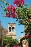 Old church of Elkomenos Christos,Monemvasia,Greece stock images