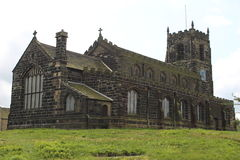 Old church in England. St Michael and All Angels church, England Royalty Free Stock Photo