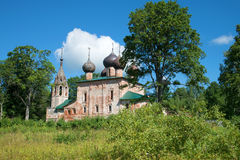Old church of the Epiphany in the homeland of Admiral F. Ushakov in the village Hopylevo, Russia Royalty Free Stock Photo