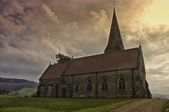Old church. Evenjobb Church in Wales, built in the 19th century in Victorian style Stock Photography