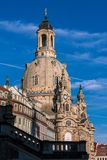 Old church Frauenkirche in Dresden stock images