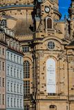 Old church Frauenkirche in Dresden stock photography