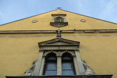 Old church front facade Royalty Free Stock Images