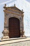 Old church gate in Garachico, Tenerife stock photo