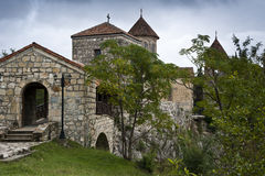 Old church in Georgia. Old christian church near the capital of Georgia, Tbilisi royalty free stock photography