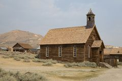 The Old Church at bodie Royalty Free Stock Photos