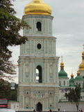 Old church with gold domes Royalty Free Stock Photos