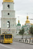 Old church with gold domes Royalty Free Stock Image