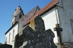 An old church from gotland Stock Photography