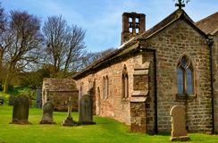 Old church and graveyard Royalty Free Stock Photo