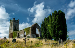 Old Church and Graveyard in Ireland Stock Images