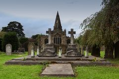 Old church and graveyard Royalty Free Stock Image