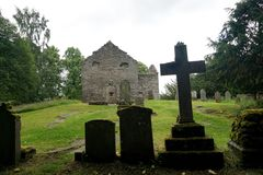 Old church and graveyard in Scotland Stock Photos