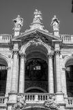 Old church with great colonnades. Particolere photo of a piece of history give roma Royalty Free Stock Photo
