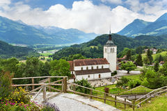 Old church in Gruyere, Switzerland Stock Photos