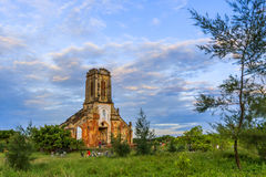 Old church in Hai Hau beach Royalty Free Stock Image