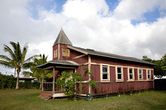 An Old Church in Hale'iwa Hawaii stock photos