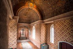 Free Old Church Hall With Moorish Decor Inside 15th Century Sintra National Palace Stock Photos - 212935693