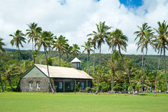 Old church at Hana on Hawaii Island Maui royalty free stock photography