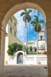 Old church in Havana. Old church in the colonial neighborhood of Havana stock images