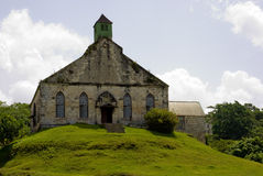 Old Church on a Hill. Old Jamaican Church on a Hill Royalty Free Stock Images