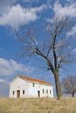 Old church on the Hill. Old church in Blatetz village, Region of Kyustendil, Bulgaria Royalty Free Stock Photos