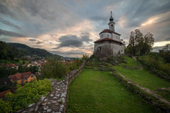 Old Church on the Hill in Kamnik, Slovenia Stock Images