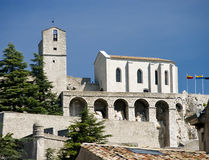 Old church on hillside Royalty Free Stock Images