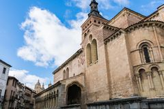 Old church in the historic center of the city royalty free stock photos