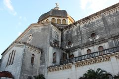 Old church in the historic center of Havana, Cuba royalty free stock photo