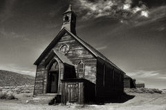 Old church in historic ghost town Bodie California Stock Image