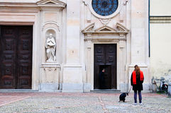 Old church in the historic streets of parma Royalty Free Stock Images