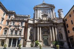 Old church in historical centre of Rome, Italy Royalty Free Stock Images