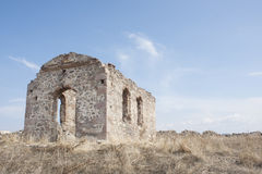 Old church. Image of an old church against clear blue sky Royalty Free Stock Photography