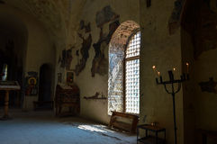 An old church. Inside of Asenov Fortress Royalty Free Stock Photo