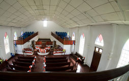 Old church interior caribbean island Royalty Free Stock Photography