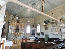 Old church  interior, Lithuania Stock Images
