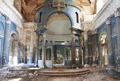 Old church. Interior shot of old Abandoned Orthodox Church Royalty Free Stock Photos