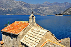 Old church and islands Stock Photo