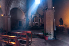 Old church in Italy. Inside old church in Italy Stock Photography