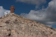 An old church in Italy. Italian old church and blue sky Royalty Free Stock Photography