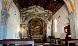 Old church in Limone Stock Photography