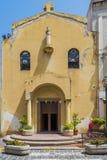 An old church in Lipari town on the Lipari island royalty free stock images