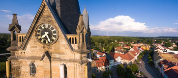 Old church Lucka medieval town Germany Thuringia Stock Image
