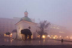 Old church on the market square in Krakow at Stock Image