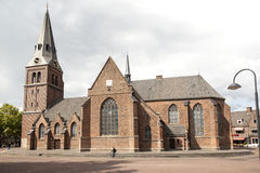 Old church on markt in Wageningen Stock Photos
