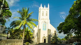 Old church in mauritius stock video