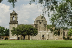 Old church of Mission San Jose in San Antonio, Texas Royalty Free Stock Image