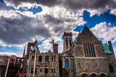 Old church in Mount Vernon, Baltimore, Maryland. Stock Photo